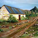 Compassberg Hut - the Painting by Antionette