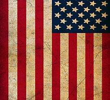 Vintage Grunge American Flag by sale