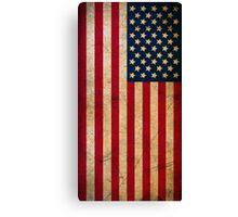 Vintage Grunge American Flag Canvas Print
