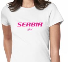 SERBIA GIRL Womens Fitted T-Shirt