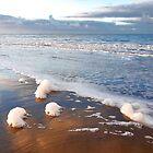 Foam along the tide line  by Adri  Padmos