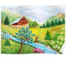 Alpine scenery Poster