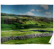 Light and Shade and Dry Stone Walls Poster