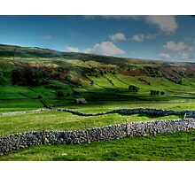 Light and Shade and Dry Stone Walls Photographic Print