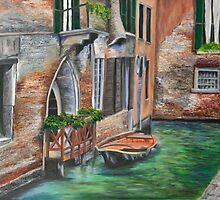 Peaceful Venice Canal by Charlotte  Blanchard