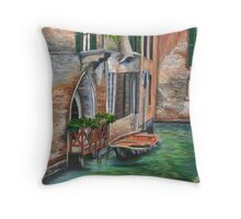 Peaceful Venice Canal Throw Pillow