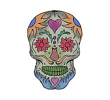 Adult Coloring - Skull Photographic Print