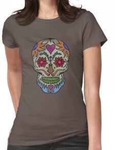 Adult Coloring - Skull Womens Fitted T-Shirt