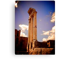Temple of Castor and Pollux, Forum of Rome Canvas Print