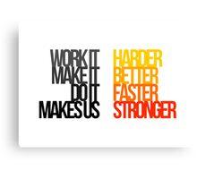 Daft Punk - Harder Better Faster Stronger Canvas Print