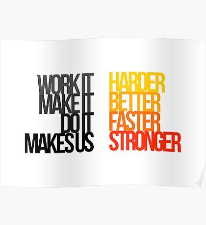 Daft Punk - Harder Better Faster Stronger Poster