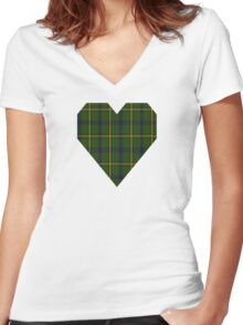 00378 Salvation Army Hunting Tartan  Women's Fitted V-Neck T-Shirt