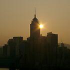 Hong Kong skyline at sunrise by robigeehk