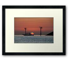 Leisure ride, Kuwait ocean sunrise Framed Print