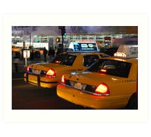 NYC Taxis Art Print