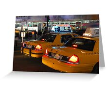 NYC Taxis Greeting Card