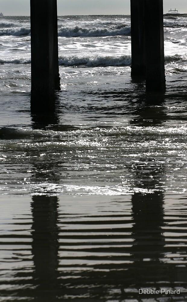 Under the Pier - Port Aransas Texas by Debbie Pinard