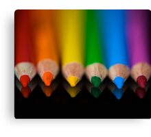 Rainbow Row Canvas Print
