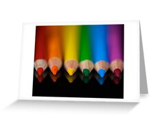 Rainbow Row Greeting Card