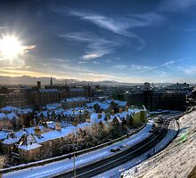 Winter view from the castle by rgstrachan