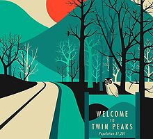 Twin Peaks - Modern Graphic by Parker Salenfriend