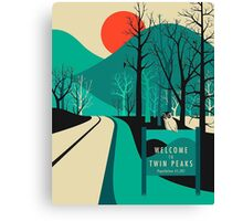 Twin Peaks - Modern Graphic Canvas Print