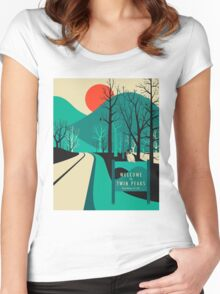 Twin Peaks - Modern Graphic Women's Fitted Scoop T-Shirt