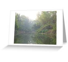 Morning canal Greeting Card