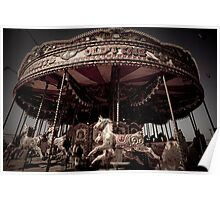 Aged Carrousel Poster