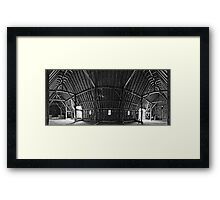 Priors Hall Barn Framed Print