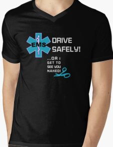EMS Humor - Naked Mens V-Neck T-Shirt