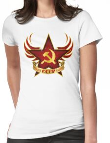 CCCP Army Womens Fitted T-Shirt
