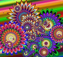 Hippy Dippy Flowers by wolfepaw