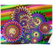 Hippy Dippy Flowers Poster