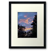 Suburban Sunset Framed Print