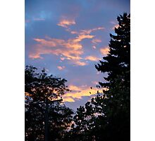 Suburban Sunset Photographic Print