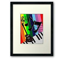 Musical Matrix Framed Print