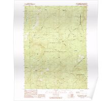 USGS Topo Map Oregon Quail Prairie Mtn 281192 1989 24000 Poster