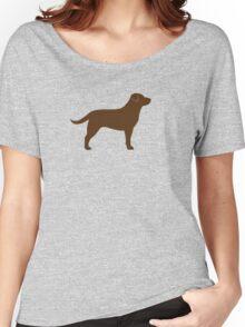 Chocolate Labrador Retriever Women's Relaxed Fit T-Shirt