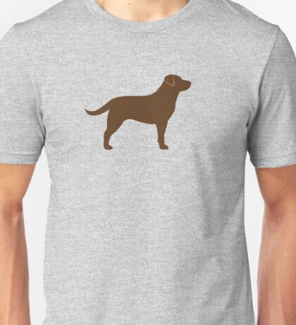 Chocolate Labrador Retriever Silhouette(s) Unisex T-Shirt