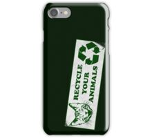 Recycle your Animals - Fight Club iPhone Case/Skin