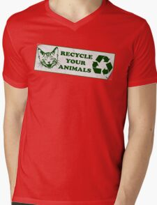 Please recycle your animals Mens V-Neck T-Shirt