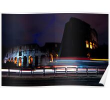 Colosseo at Night Poster