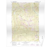 USGS Topo Map Oregon China Cap 279344 1965 24000 Poster