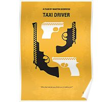 No087 My Taxi Driver minimal movie poster Poster