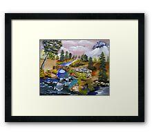 Bubbling Brook Framed Print