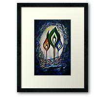 Three sparks of love Framed Print