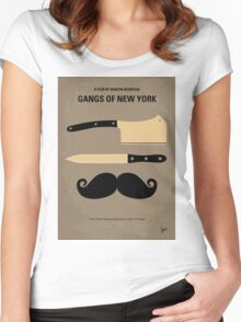 No195 My Gangs of New York minimal movie poster Women's Fitted Scoop T-Shirt