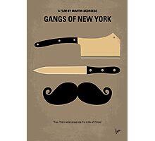 No195 My Gangs of New York minimal movie poster Photographic Print