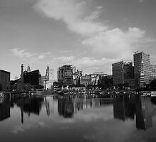 Albert Docks (Black & White) by James Walker